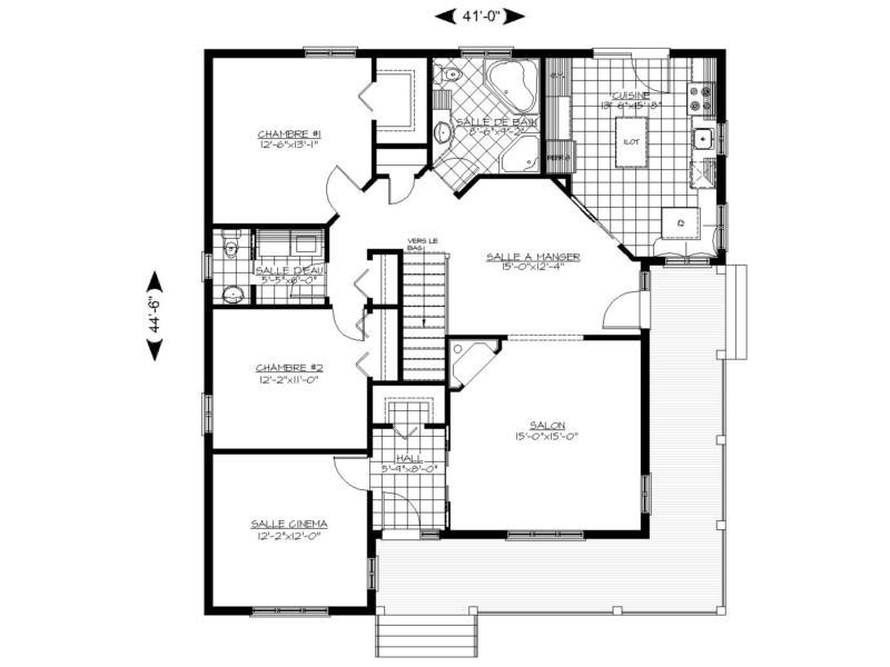 Plan plain pied 00097 for Modifier plan maison